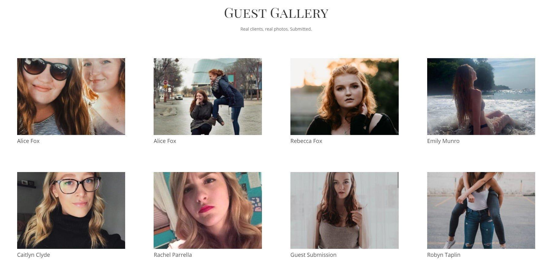 hair salon gallery design